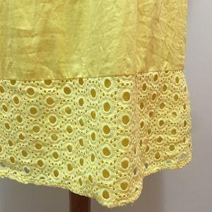 Elle  Yellow Sleeveless Eyelet Dress